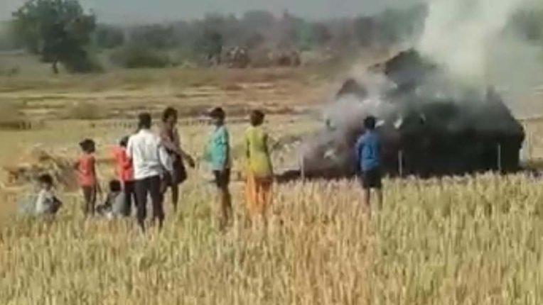 धान के ढेर जलाने की घटनाएं बढी, गोंडपिपरी में लगातार तीसरी घटना