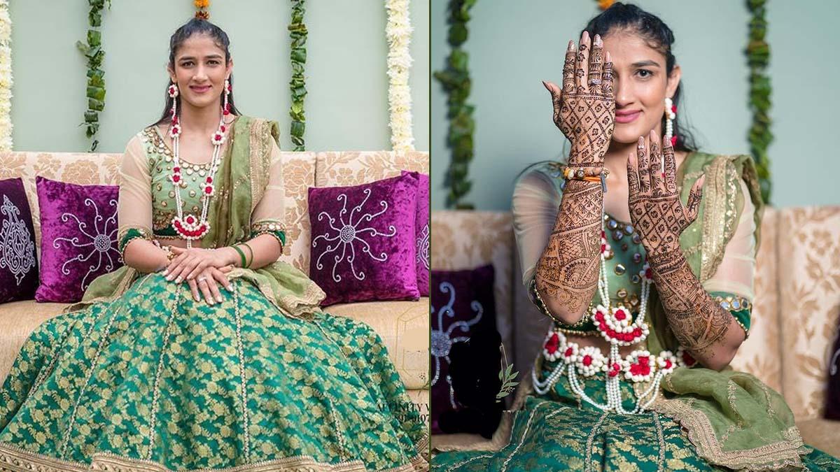 Wrestler bajrang poonia and sangeeta phogat marriage photos | परिणय सूत्र  में बंधी रेसलर जोड़ी, 7 की जगह 8 फेरे लेकर दिया 'बेटी बचाओ' का संदेश |  Navabharat (नवभारत)