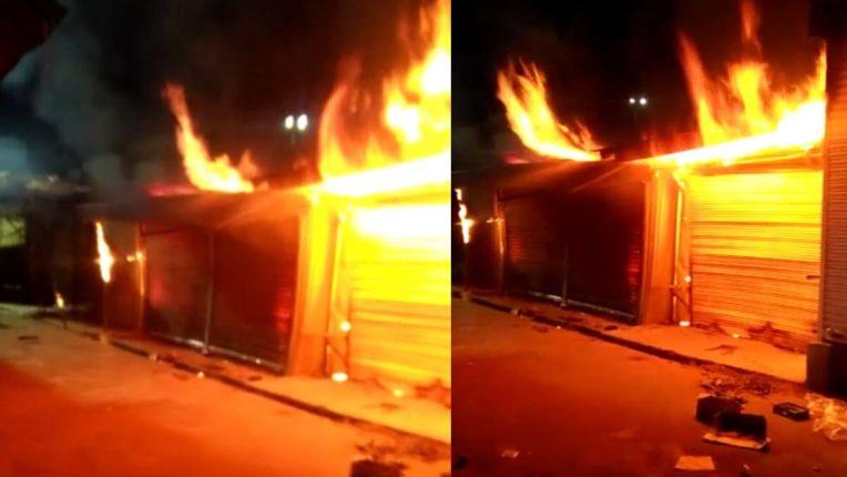2 दूकानों में लगी भीषण आग, लाखों का माल स्वाहा