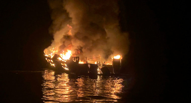 Captain blamed for scuba diving boat fire in California, 34 people had died in accident