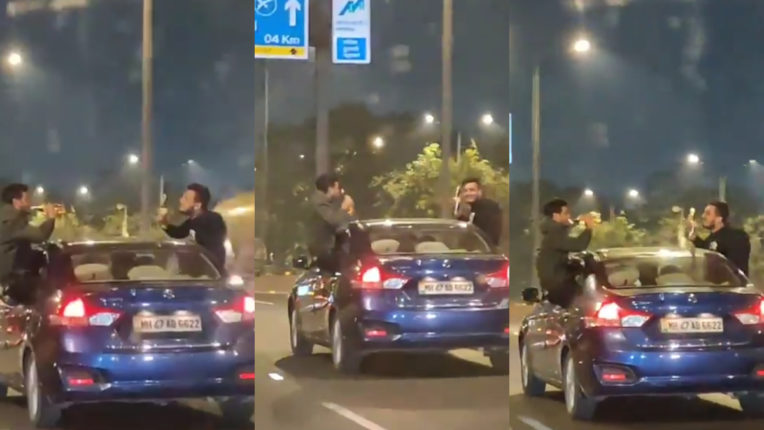 A stunt in a fast-moving car turns costly for three youths, police initiate action