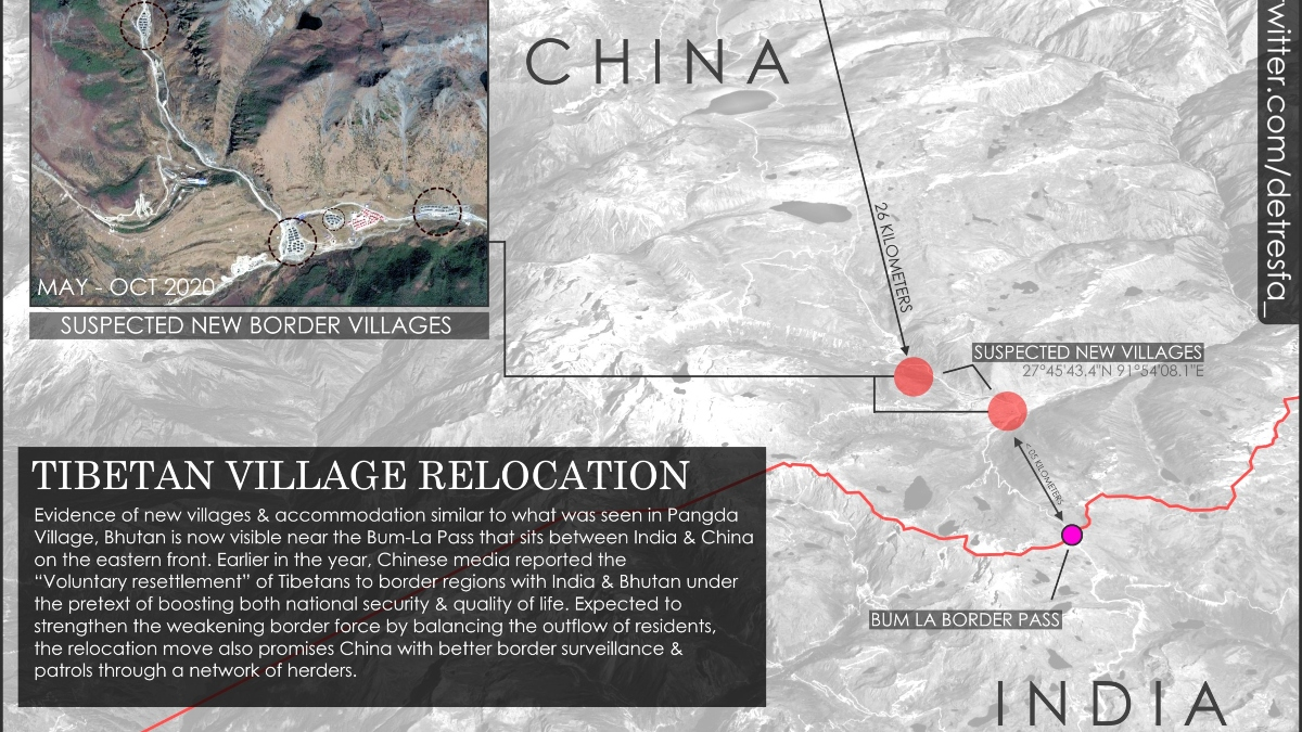 China's exposed on every front, have now settled three villages have been on Arunachal border