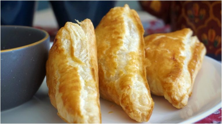 Eat Tasty Paneer Cottage Cheese Puff in the evening breakfast