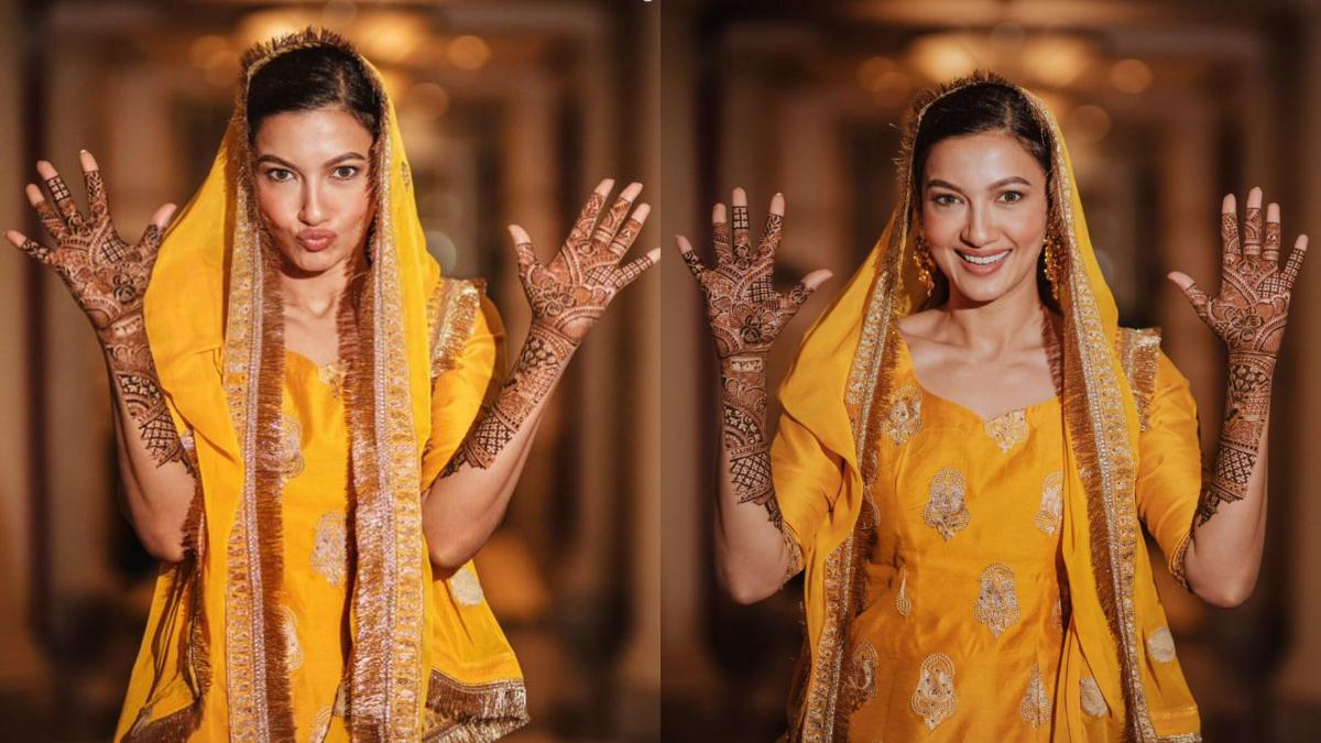 Gauhar Khan put a mehndi on her husband's name, beautiful pictures surfaced   गौहर खान ने लगाई पति के नाम की मेहंदी, सामने आई खूबसूरत तस्वीरें   Navabharat (नवभारत)