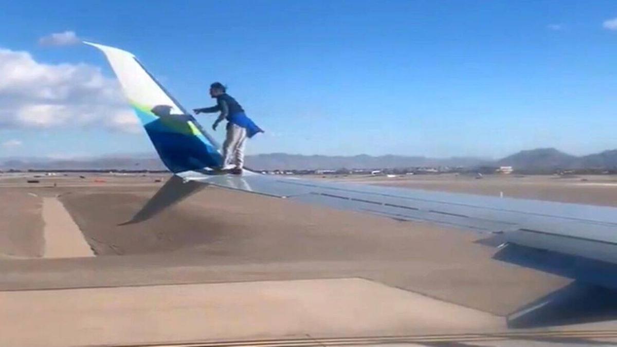 रिपोर्ट्स के मुताबिक, वीडियोमैककारन एयरपोर्ट पर एक पोर्टलैंड-बाउंड अलास्का एयरलाइंस के विमान का है।
