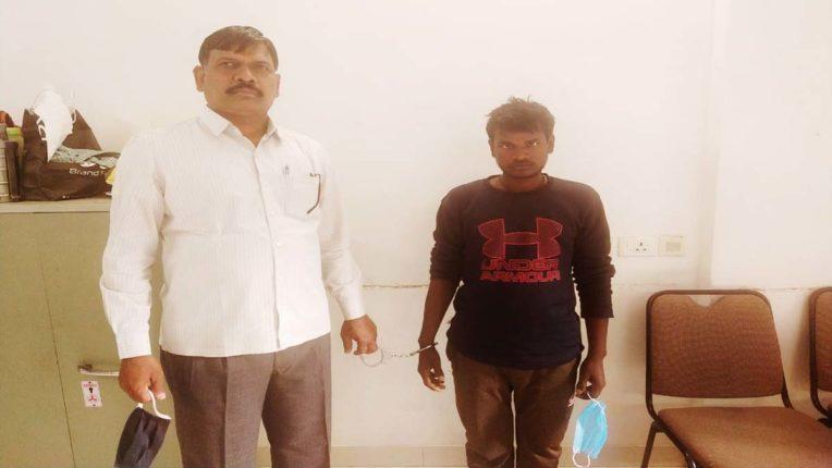 हत्या का फरार आरोपी उत्तर प्रदेश से गिरफ्तार