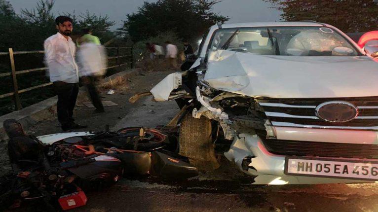 BJP विधायक किसन कथोरे की कार से भिड़ी बाइक, 2 की मौत