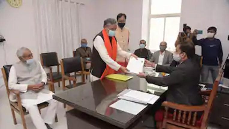 सुशील कुमार मोदी ने राज्यसभा उपचुनाव के लिए दाखिल किया नामांकन