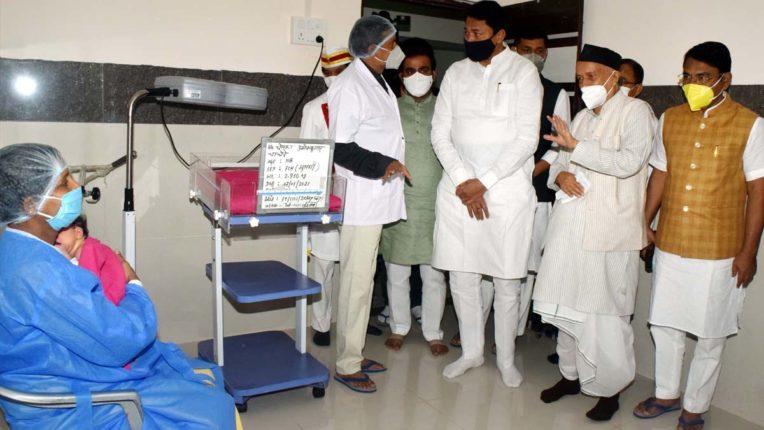 Bhagat Singh Koshyari visited the bhandara district hospital