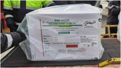 First batch arrives in Delhi from Pune airport carrying millions of vaccines from Covishield