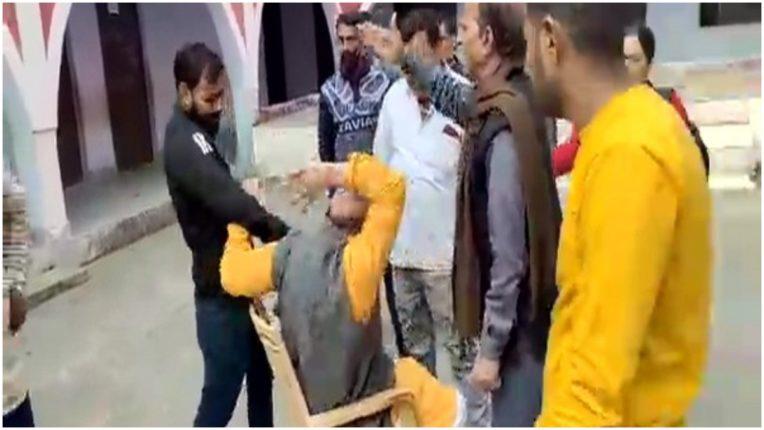 Former BJP MLA Maya Shankar Pathak seen beaten up in viral video, police investigation underway