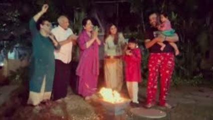 परिवार के साथ शिल्पा शेट्टी ने मनाई लोहड़ी, सोशल मीडिया पर वीडियो हुआ वायरल