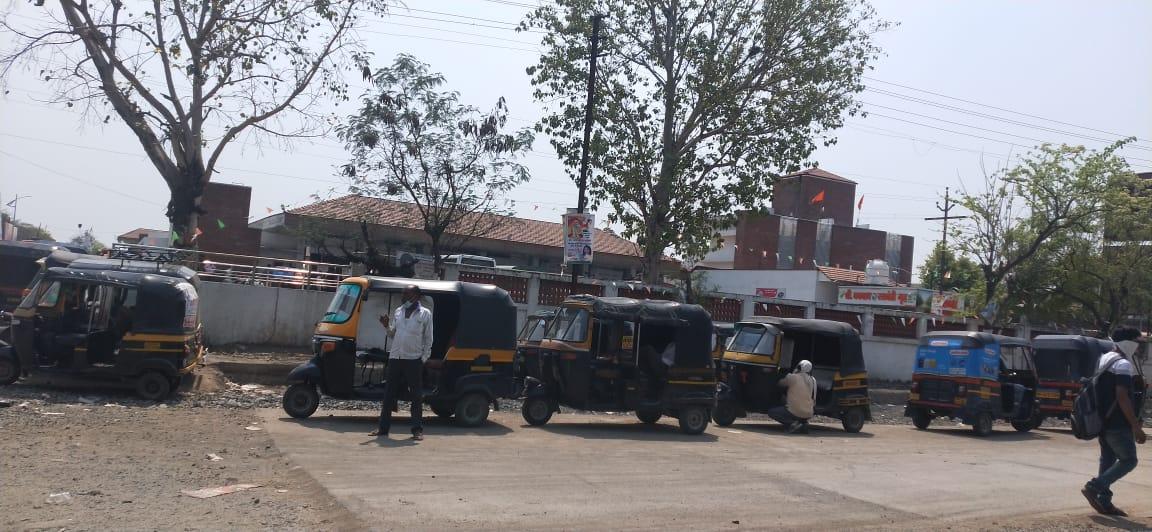 Wardha Bus Stand Traffic
