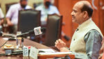 Lok Sabha Speaker Om Birla during virtual Meeting with Presiding Officers