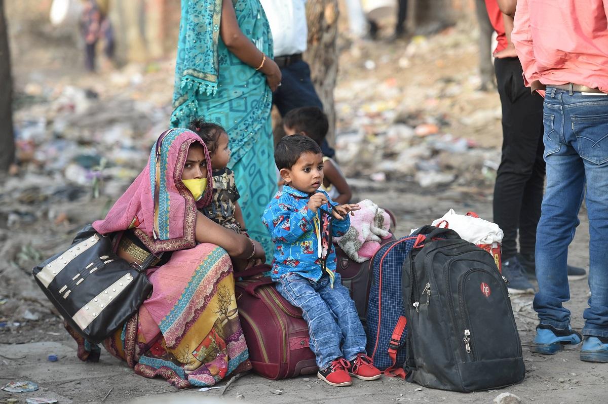 Rush at Anand Bihar Terminal