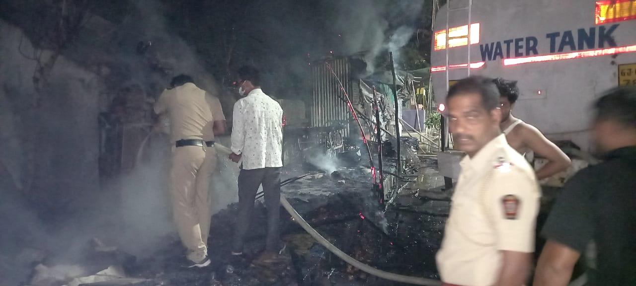 Shop Fire in Wardha