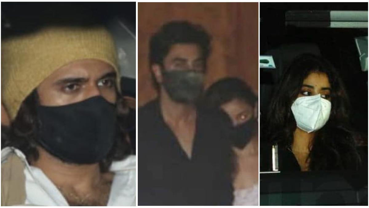 Arjun Kapoor Birthday party: बॉलीवुड अभिनेता अर्जुन कपूर (Arjun Kapoor) आज अपना 36वां जन्मदिन मना रहे हैं। फिल्म जगत का यह कलाकार अक्सर अपनी पर्सनल लाइफ से जुड़े कुछ ऐसे किस्से लेकर चर्चा का विषय बने रहते हैं। अपने बर्थडे के खास मौके पर अर्जुन कपूर ने परिवार के कुछ सदस्यों के लिए और बॉलीवुड सेलेब्स के लिए ठीक 12 बजे पार्टी का आयोजन किया था। इस शानदार पार्टी में अर्जुन की बहनें अंशुल, जाह्नवी और ख़ुशी शामिल होती दिखाई दी। इसके अलावा बॉलीवुड से अर्जुन के खास दोस्त रणवीर सिंह, रणबीर कपूर अलिया भट्ट और साउथ अभिनेता विजय देवरकोंडा इस पार्टी को एन्जॉय करते दिखाई दिए। इन सभी सेलेब्स को देर रात अर्जुन कपूर के घर के बाहर स्पॉट किया गया। देखें तस्वीरें- (फोटो साभार- @instagram)