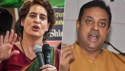 Priyanka Gandhi and Sambit Patra
