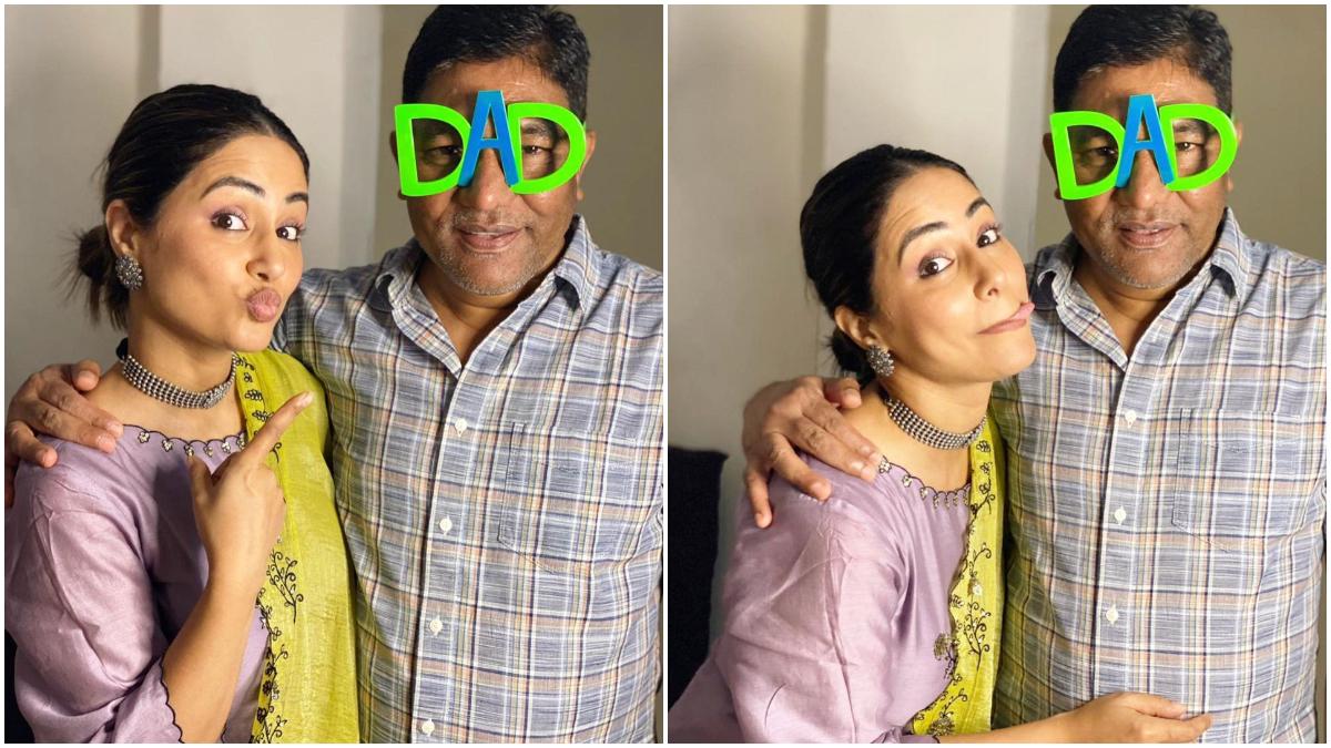 Hina Khan remembers her late father on Father's Day, became emotional by sharing pictures : 'फादर्स डे' (Father's Day 2021) के खास मौके पर टीवी अभिनेत्री हिना खान (Hina Khan) अपने स्वर्गवासी पिता को याद करती दिखाई दी। अदाकारा ने 'फादर्स डे' पर अपने पिता की कुछ तस्वीरें पोस्ट करते हुए एक भावुक नोट लिखा है। हिना ने बताया कि 'उन्होंने 7 महीने पहले अपने पिता के साथ यह तस्वीरें क्लिक करवाई थीं।' हिना ने अपने पोस्ट ने आगे लिखा 'मैंने कभी नहीं सोचा था कि मेरे पिता इस तरह से हमें छोड़ कर चले जाएंगे। जब हमने ये तस्वीरें क्लिक करवाई थी तब मेरे पिता को ये तस्वीरें देखनी थीं... मिस यू... हैप्पी फादर्स डे डैडी... आई लव यू... ।' मालूम हो कि दो महीने पहले हिना खान के पिता का निधन हार्ट अटैक से हुआ था। उस दौरान अदाकारा एक म्यूजिक वीडियो की शूटिंग के सिलसिले में कश्मीर गई थी। देखें ये तस्वीरें- (फोटो साभार- @हिना खान)