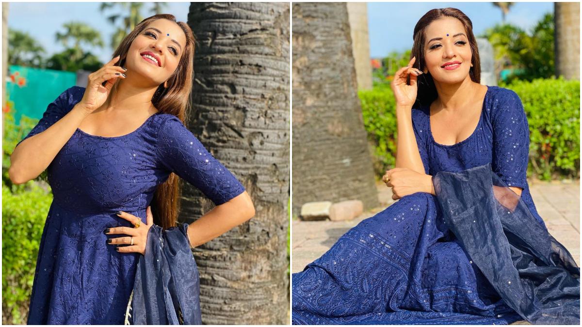 Monalisa's glamorous style in a blue outfit, said 'I have become a determined woman, who is not afraid of struggle...': 'बिग बॉस' फेम अदाकारा मोनालिसा (Monalisa) बेहतरीन अभिनय के साथ-साथ अपनी खूबसूरती के लिए भी फैंस के बीच पॉपुलर हैं। सोशल मीडिया पर अक्सर अभिनेत्री अपना बोल्ड वीडियो और तस्वीरें पोस्ट करती रहती हैं। ऐसे में एक बार फिर अभिनेत्री लेटेस्ट तस्वीरों में कातिलाना अंदाज में नजर आई। तस्वीरों में वह ब्लू आउटफिट में बेहद ग्लैमरस दिखाई दी। इन तस्वीरों को सोशल मीडिया पर साझा करते हुए मोनालिसा ने कैप्शन में लिखा 'मैं अब एक डरपोक शर्मीली लड़की से... एक ऐसे दृढ़ चरित्र की महिला बन गई हूं... जोकि संघर्ष से नहीं डरती...' अभिनेत्री मोनालिसा ने एक के बाद एक कई तस्वीरें अपने सोशल मीडिया अकाउंट पर पोस्ट किए हैं। आप भी नजर डाले- (फोटो साभार- @ Monalisa)