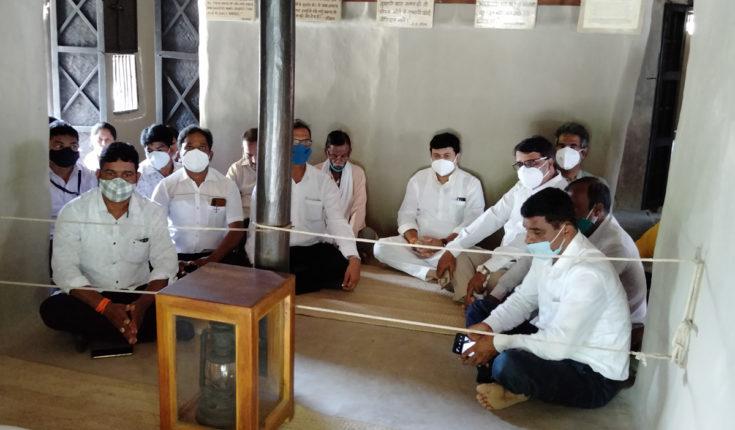Uday Samant at Sevagram Ashram
