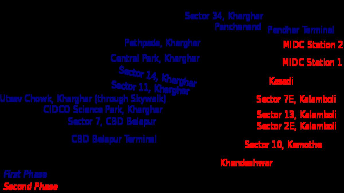Navi Mumbai Metro Map